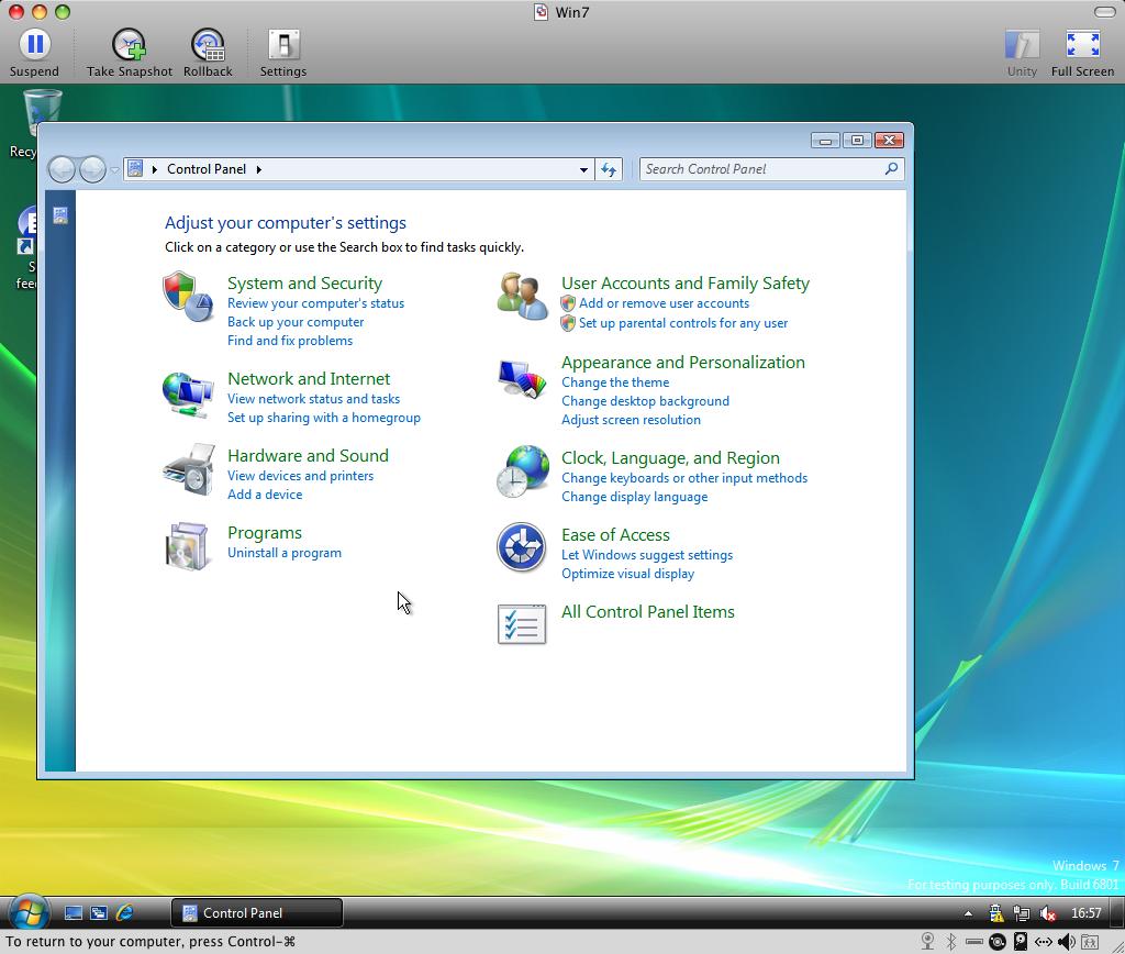 Windows 7: Control Panel