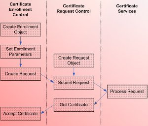 the certificate enrollment process