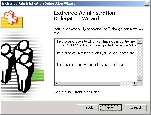Configuring Exchange Server 2003 Administrative Permissions