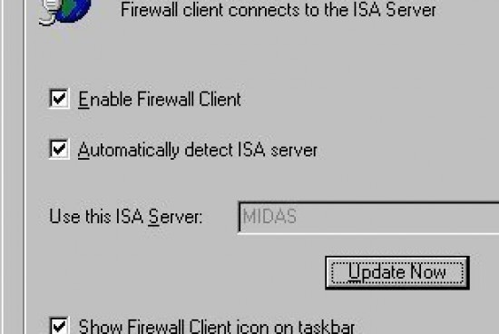 Configuring ISA Server Client Settings