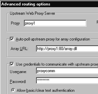 Configuring Proxy Server Arrays and Routes