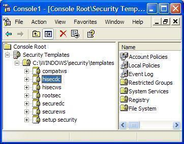 Defining a Baseline Security Template