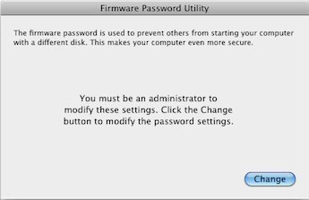 How to Disable Mac OSx Firmware Password Protection