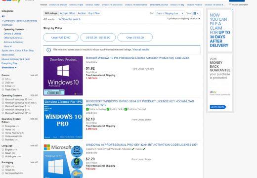 Do Cheap Windows 10 License Keys from eBay Work?