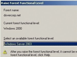 Forest and Domain Functional Levels