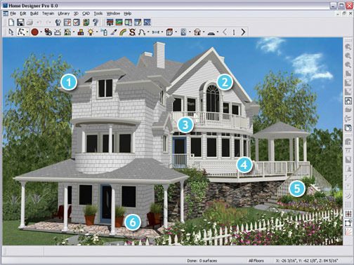 Free home design software House plan design program