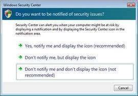 How to Disable Windows Security Alerts