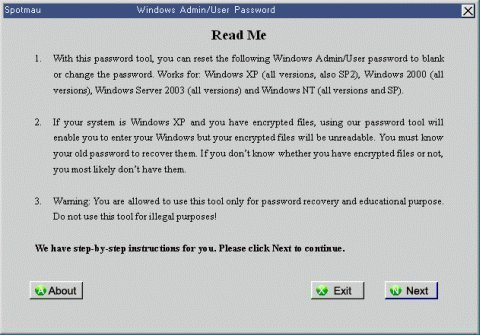 how to recover a lost windows password