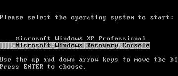 How to Use the Windows XP Recovery Console