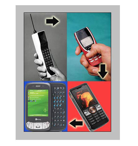 history of the cell phone A mobile phone, known as a cell phone in north america, is a portable telephone that can make and receive calls over a radio frequency link while the user is moving within a telephone service area history martin cooper of motorola made.