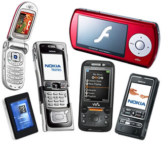 types of mobile telephones