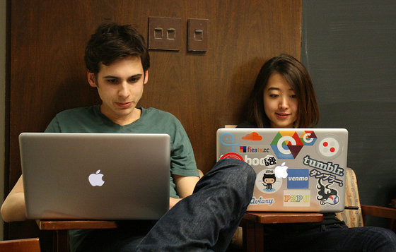 Students programming