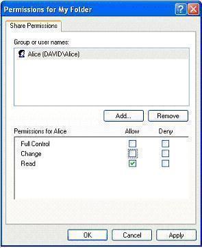 Shared Folder Permissions - 1