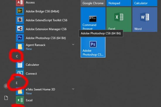 How to Remove Alphabet Letters in Windows 10 Start Menu?