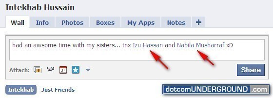 How to Tag People in Facebook Status