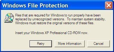 Windows Protection Error