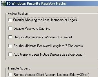 Windows Registry Hacks